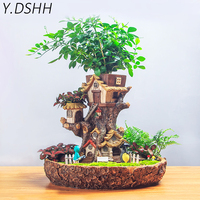 Y. DSHH Flowerpot Planter Dreams Forest Tree House Decor Succulent Plant Pots Balcony Table Desktop Decoration Multi pot Cute