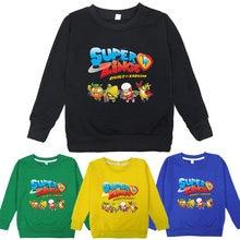 Super zings sweatshirts cartoon hot game kids hoodie toddler