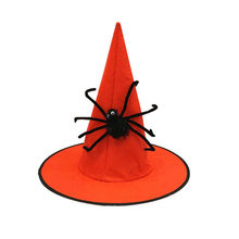 Halloween Hoed Ghost Festival Geweven Spider Wizard Hoed Cool Cosplay Viering elegante Levert Festival Decoration19SEP11(China)
