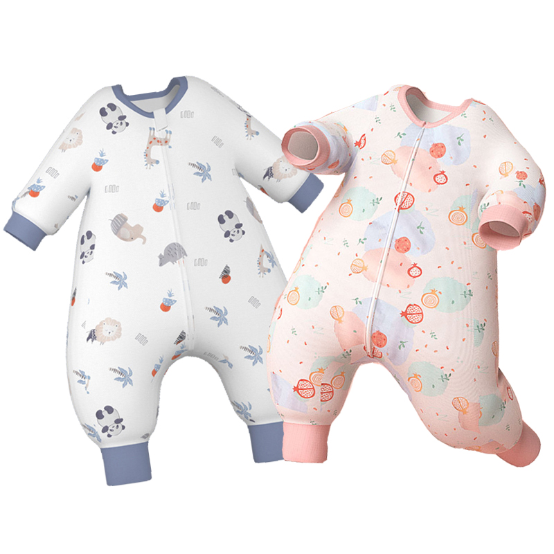 Spring Toddler Onesies Pajamas Cotton Gauze Baby Clothes Boys Girls Kids Romper Sleepwear Infant Animal Floral Printing Homewear