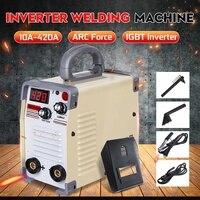 220V Arc Welder 10 420A Handheld Mini MMA DC Inverter Welding Machine With Clamp For Welding Working Welders Inverter Machine