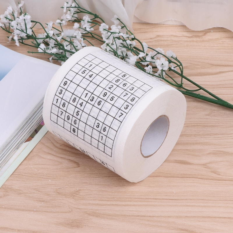 Durable Sudoku Su Printed Tissue Paper Toilet Roll Paper Good Puzzle Game 50JF