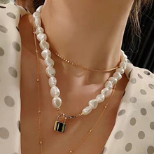 Luxury Imitation Pearls Multi Layer Pendant Necklace For Women  Korean Elegant Trendy Wedding Party Clavicle Jewelry 2020 new highlight pearl pendant choker necklace for women luxury crystal multi layer clavicle chain statement party jewelry