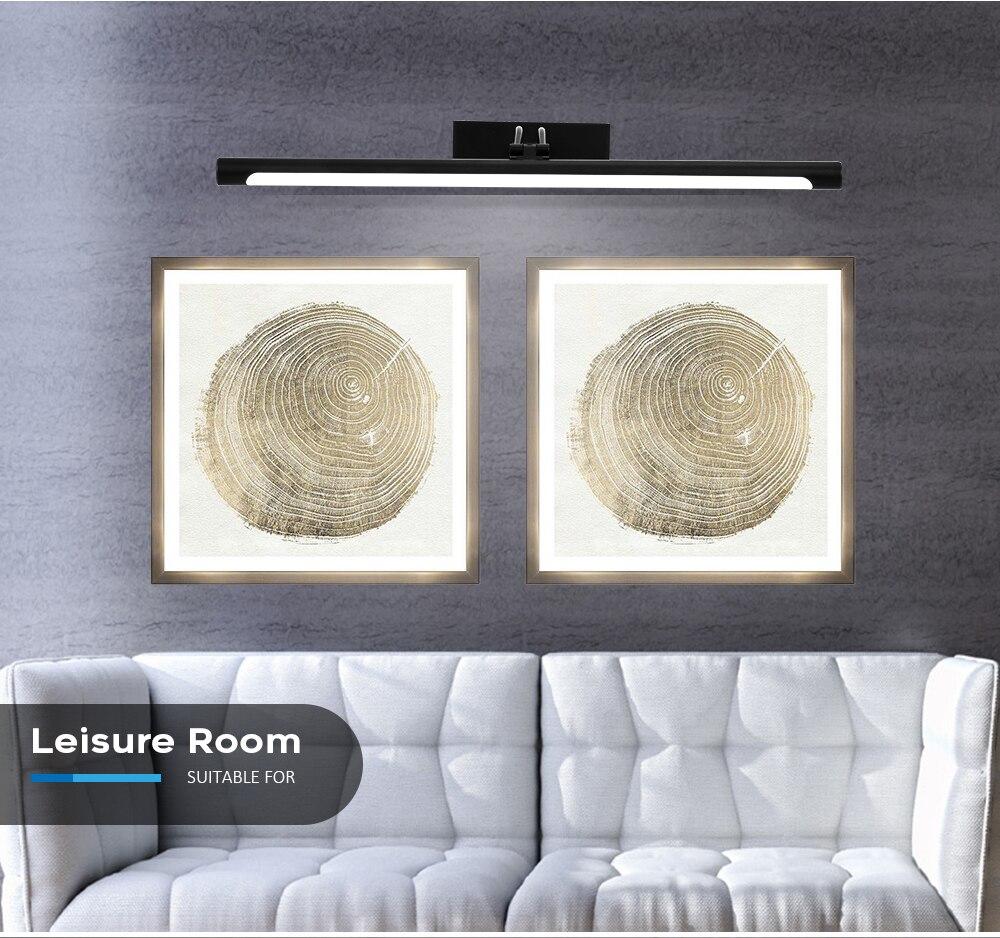 espelho de luz 12w 55cm lâmpada de