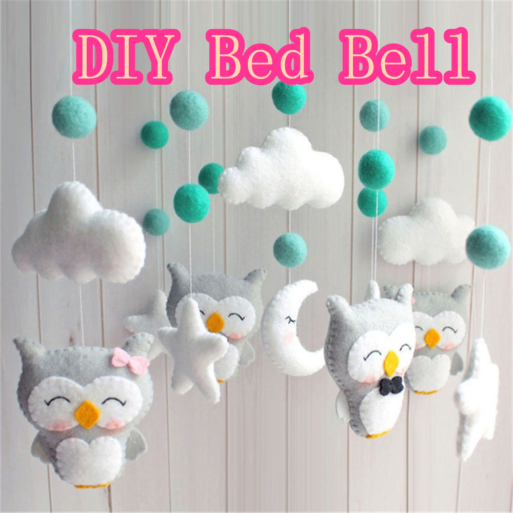 Baby Mobile Rattles Baby Toys 0-12 Months For Baby Newborn Crib DIY Bed Bell Toddler Rattles Material Package Made By Yourself