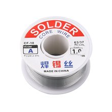 1.0mm 2% Flux Tin Lead Rosin Roll Core Silver Solder Wire Welding Soldering Repairing Tool Reel Melt Kit Electric Melting