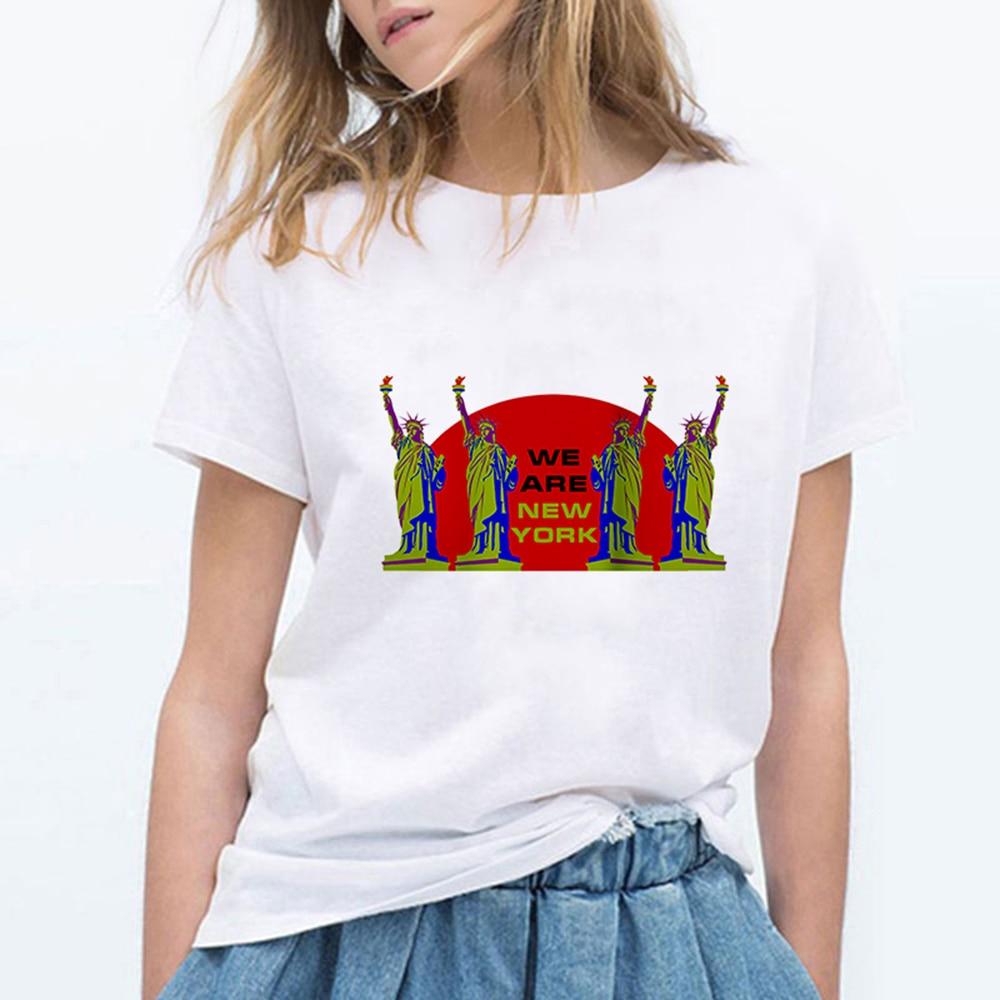 Hot Sale WE ARE NEW YORK T Shirts Women Fashion T-shirt Kawaii Hipster Cool Oversize Pop Pretty Harajuku Ropa Mujer