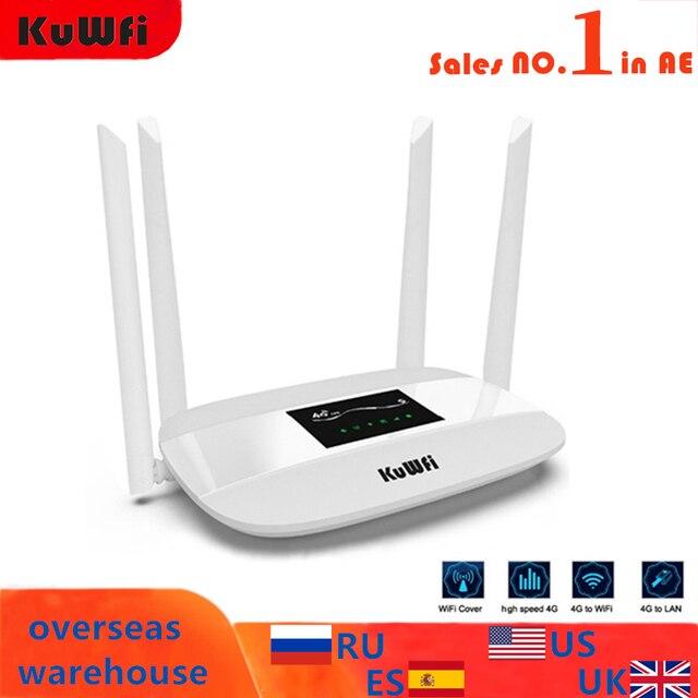 300Mbps débloqué 4G LTE CPE routeur sans fil prise en charge de la carte SIM antenne 4 pièces avec Port LAN prenant en charge jusqu'à 32 utilisateurs Wifi