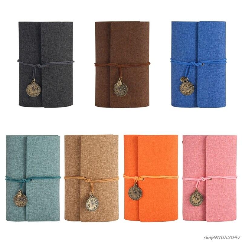 A6 Loose-Leaf Tri-fold Travel Handbook Pu Leather Notebook Stationery Notepad Multi-Purpose Scrapbook Convenient 2021 Wholesales
