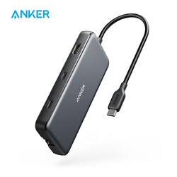 Anker USB C Hub, PowerExpand 8-in-1 USB C Adapter, with 100W Power Delivery, 4K 60Hz HDMI Port, 10Gbps USB C and 2 USB A Data Po