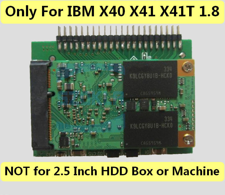 1pcs For IBM X40 X41 X41T 1.8-inch IDE parallel SSD solid state  hard drive 32G 64G 120G 240G 1