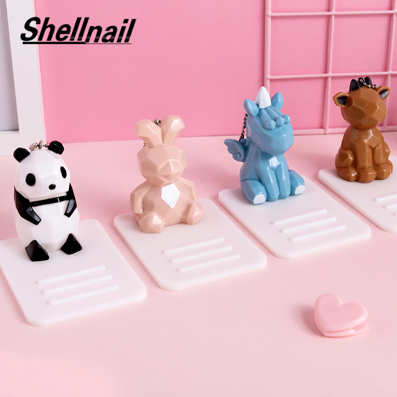 SHELLNAIL Cute 3D Cartoon Animal Mobile Phone Stands For IPhone Lazy Desktop Tablet Phone Holders Watching TV Decoration Gifts