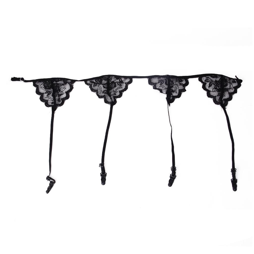 1 piece Fashion New Sexy Lace Garterbelt Adjustable Garter BeltSuspender Garter Belt Hold Black