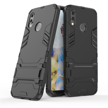 Anti Shock Proof Case For HUAWEI MATE10PRO Honor V10 P Smart G9plus NovaPlus Phone Case PC+Silicone Iron Man Kickstand Cover image