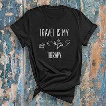 T-shirt unisexe, estival et estival, à la Mode, avec image d'avion, pour aventure en plein air des années 90