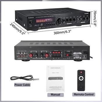 Усилитель мощности SUNBUCK 608BY, 2*100 Вт, Bluetooth, FM, USB 6