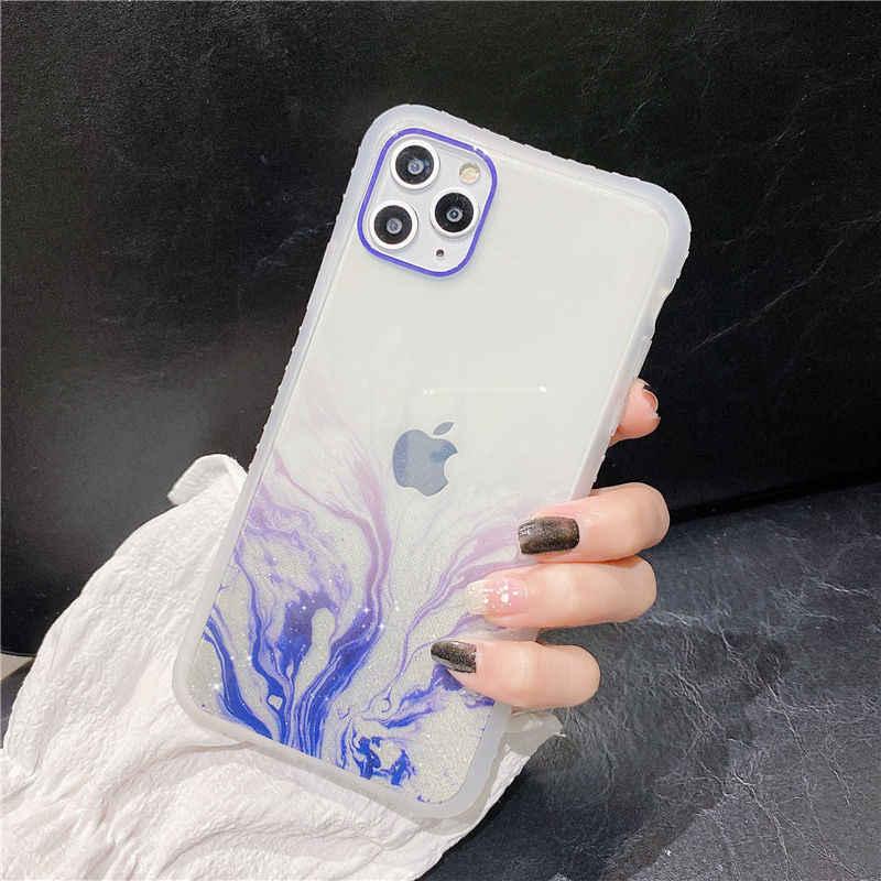 勾配大理石の質感電話ケースiphone 11 11Pro最大xr xs max x 6s 7 8 プラス 11Pro se 2020 透明バックカバー