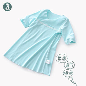 2019 Summer New Products Girls Loose-Fit Small Nightgown Half-sleeve Shirt Free Form