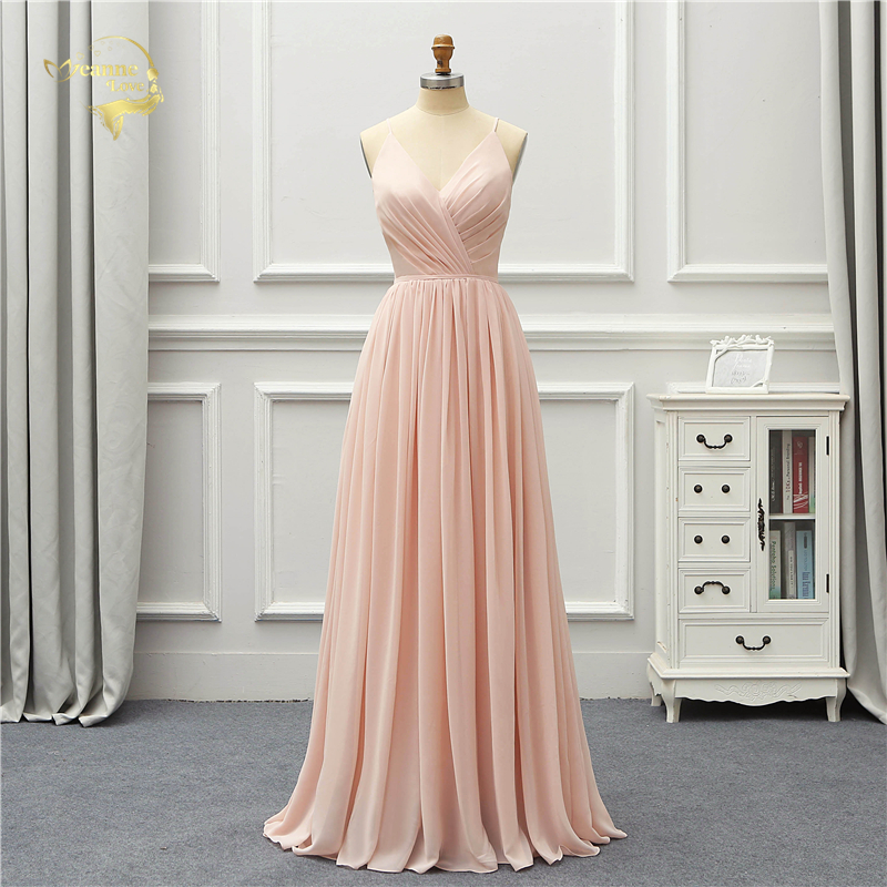 Jeanne Love formel luxe longue Robe De soirée 2019 nouveauté col en V Robe De soirée Robe De soirée De Festa OL5220 robes De bal