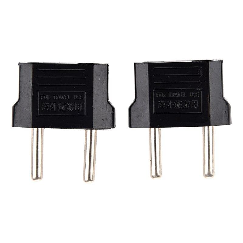 2 X Converter Plug Adapter American To European Current Plug Black