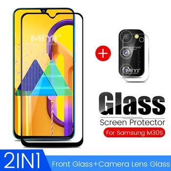 Перейти на Алиэкспресс и купить Защитное стекло 2-в-1 для samsung m31, Защитное стекло для samsung galaxy m01, m11, m21, m30s, m30 s, стеклянная пленка для защиты экрана