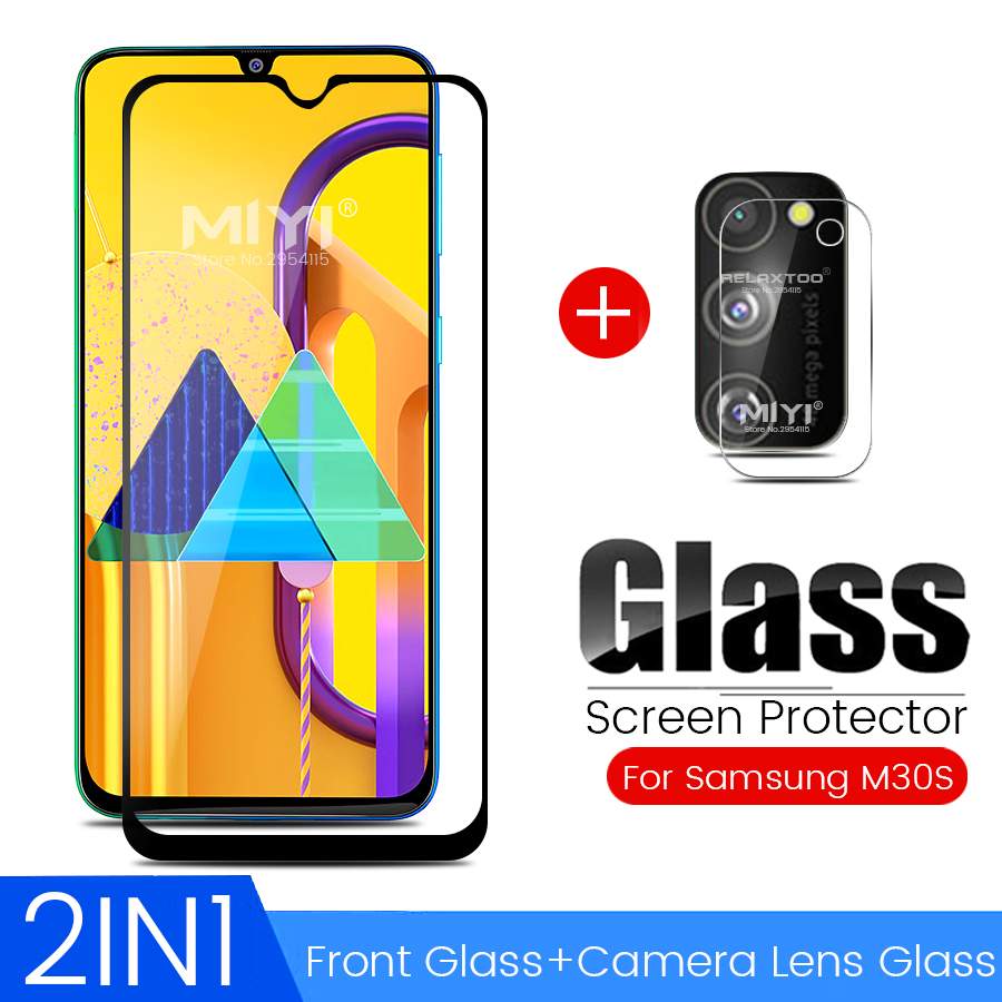 2-in-1 camera protector samsungm30s protective glass for samsung galaxy m30s m 30s 2019 sm-m307f/ds 6.4'' phone screen lens film