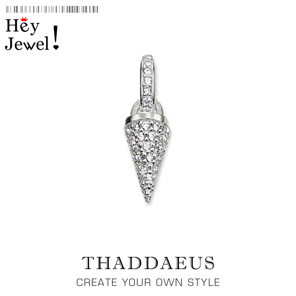 Pendant Kathmandu Spike Pave,2019 Brand New Fashion Love Jewelry Thomas Bijoux 925 Sterling Silver Accessories Gift For Ts Woman