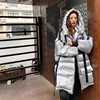 2021 New Plus size loose Glossy Winter jacket women 90% White Duck Down coat Hooded Female Thick warm Windproof snow outwear Y21 5