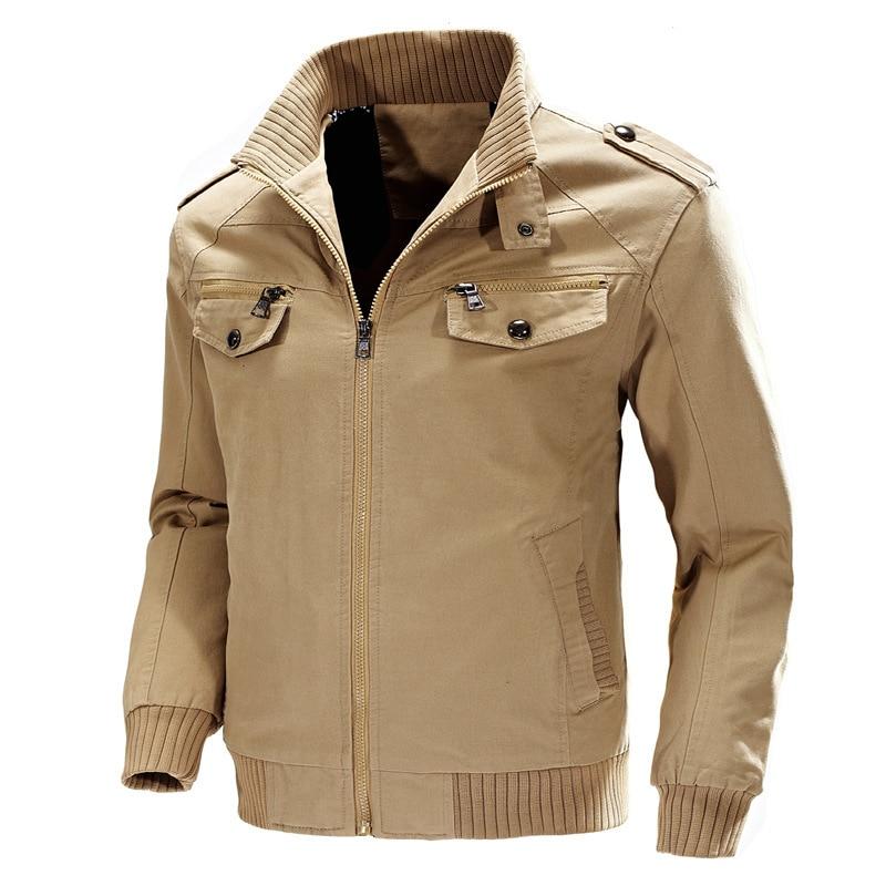KOSMO MASA, хлопковая куртка бомбер, Мужская ветровка, Военный стиль, 4xl, черный цвет, весна осень, повседневная мужская куртка и пальто для мужчин...
