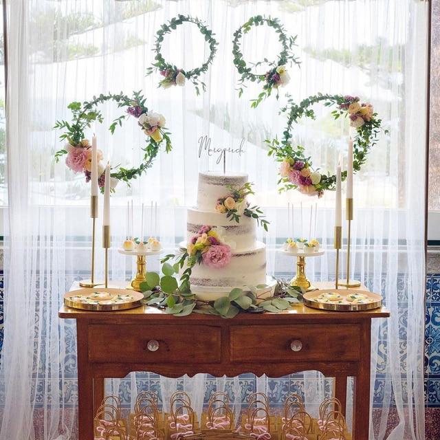 1 Set DIY 10-40cm Iron Metal Ring Wooden Crafts Garland Flowers for Eid Mubarak Ramadan Party Decoration Gift Wedding Home Decor 6