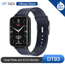 Смарт-часы DT NO.1 DT93 женские с гиперболоидным экраном, часы с поддержкой bluetooth, звонков, MP3, ЭКГ, пульсометром, кровяным давлением, SpO2