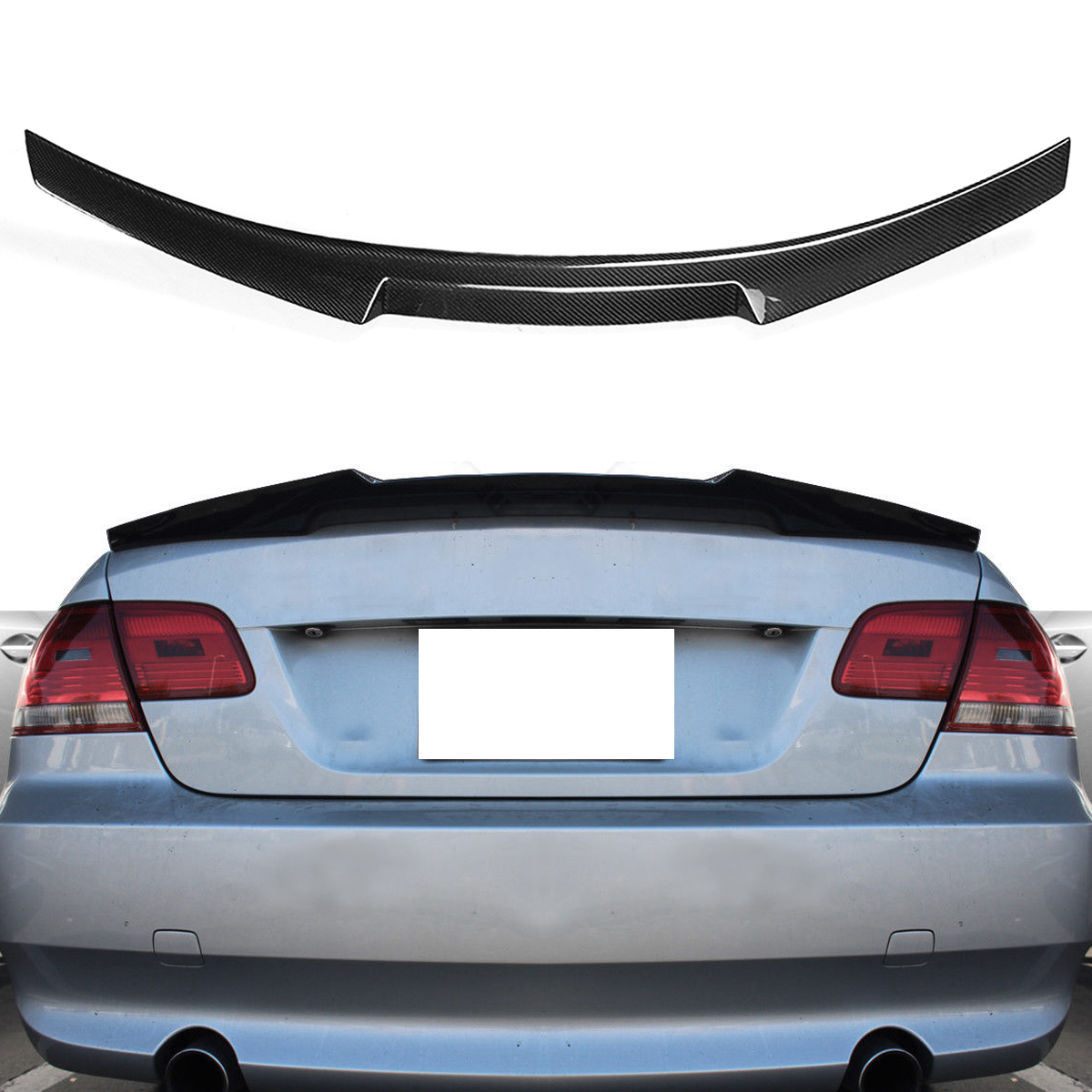High quality Carbon Fiber Trunk Spoiler Boot Lip Wing M4 Style For 07-13 For BMW E92 M3 2 door for Coupe Highkick image