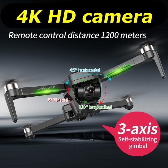 Beast SG906 PRO 2 GPS Drone With 2-axis Anti-shake Self-stabilizing Gimbal 4K Camera Brushless Motors 4