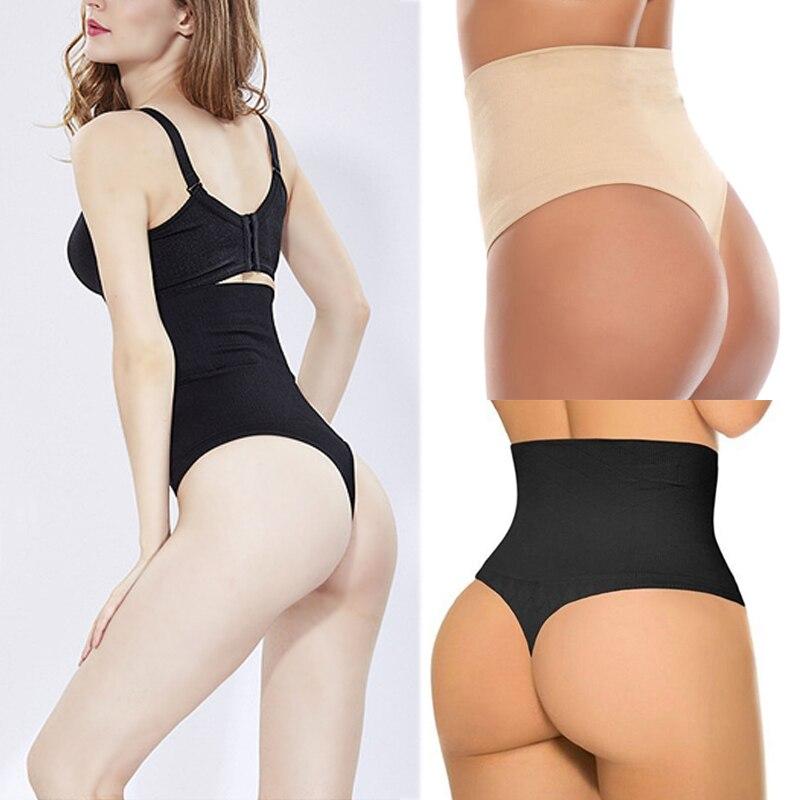 Женские стринги с высокой талией размера плюс, черные трусики-стринги, сексуальное нижнее белье, женское нижнее белье