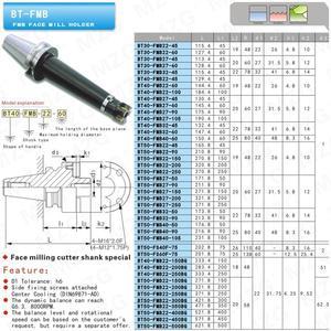 Image 4 - MZG BT50 FMB22 60 Pinza Mandrino Precisione BT50 FMB22 FMB 27 Portautensili di Perforazione Arbor Lavorazione Metrica Viso Fresatura Portautensili