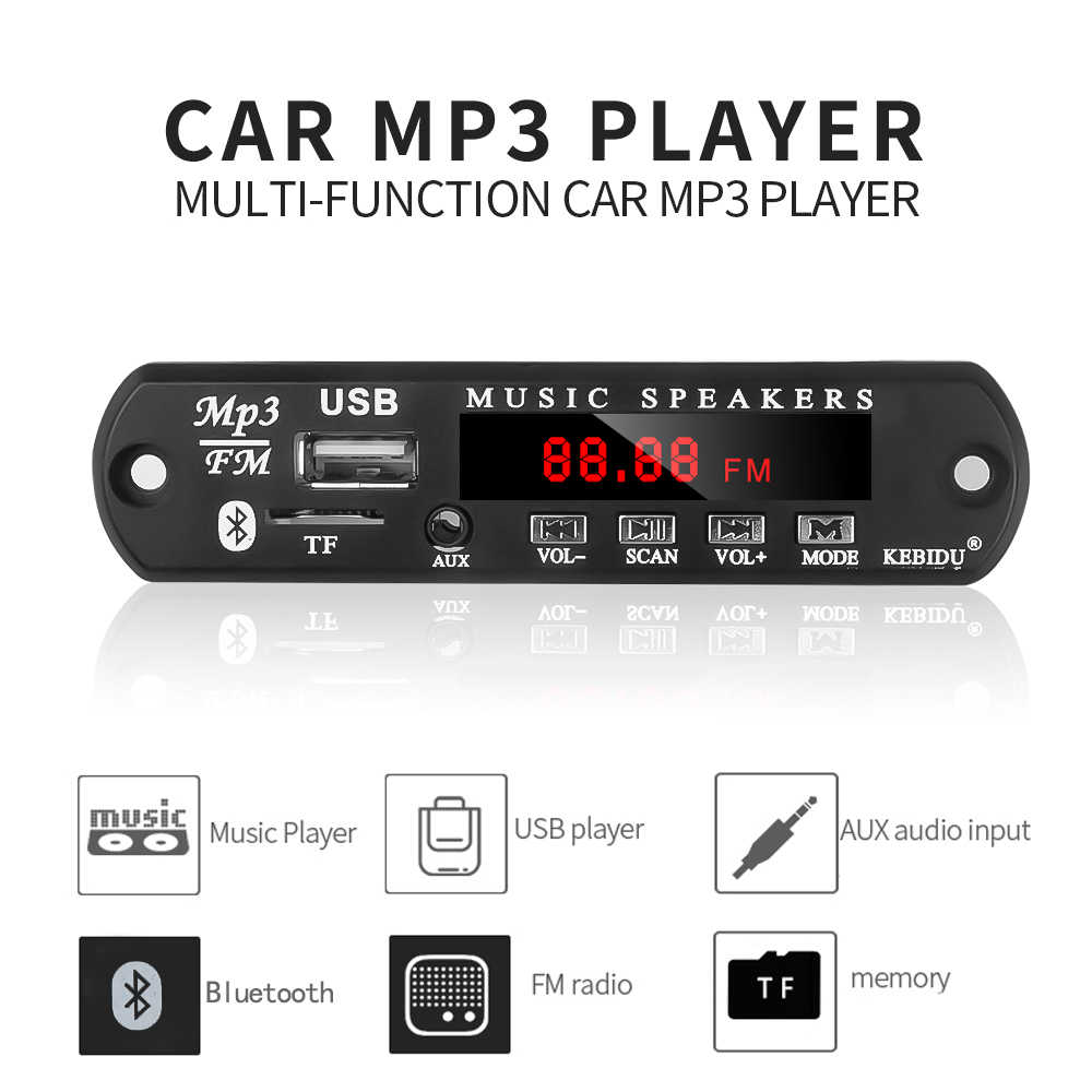 5 V-12 V Auto Audio Änderung Bluetooth MP3 Player Kit Wireless FM empfänger MP3 Decoder Board USB 3.5MM musik Audio Adpater