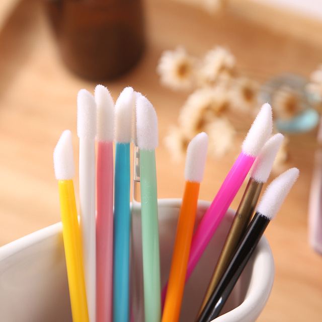 150 Pcs/pack Disposable Cosmetic Makeup Lip Brush Lipstick Lip Glossy Wands Pen Cleaner Applicator Eyeshadow Lip Gloss Brushes 2