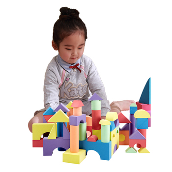 Infant Shining Kids Building Blocks 50PCS Baby Big Blocks Educational Toys Large for Children EVA Pretend Play Game Foam Toys