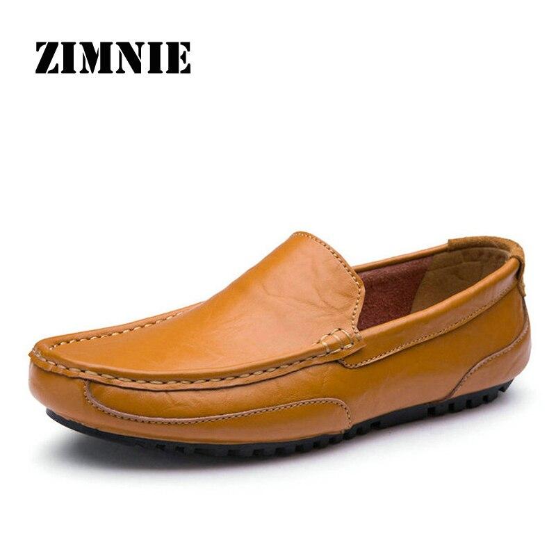 Dekabr feitos à mão sapatos masculinos apartamentos de couro rachado macio mocassins casuais sapatos de condução clássicos de alta qualidade para homem