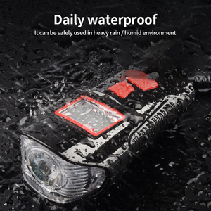 Image 3 - إضاءة دراجة هوائية مقاومة للماء USB شحن الدراجة الجبهة ضوء المصباح المقود الدراجات رئيس ضوء مقاوم للماء سرعة متر شاشة LCD