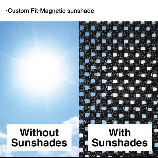 Фото 4 шт магнитные автомобильные боковые солнцезащитные очки для