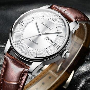 XINQITE New Man Watch 2020 Brand Luxury Mechanic Watches Leather Strap Waterproof Automatic Watch Mechanical watch