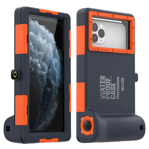 Image 1 - Professional Diving Case For iPhone 11 Pro Max X XR XS Max Case 15 Meters Waterproof Depth Cover For iPhone 6 6S 7 8 Plus Coque