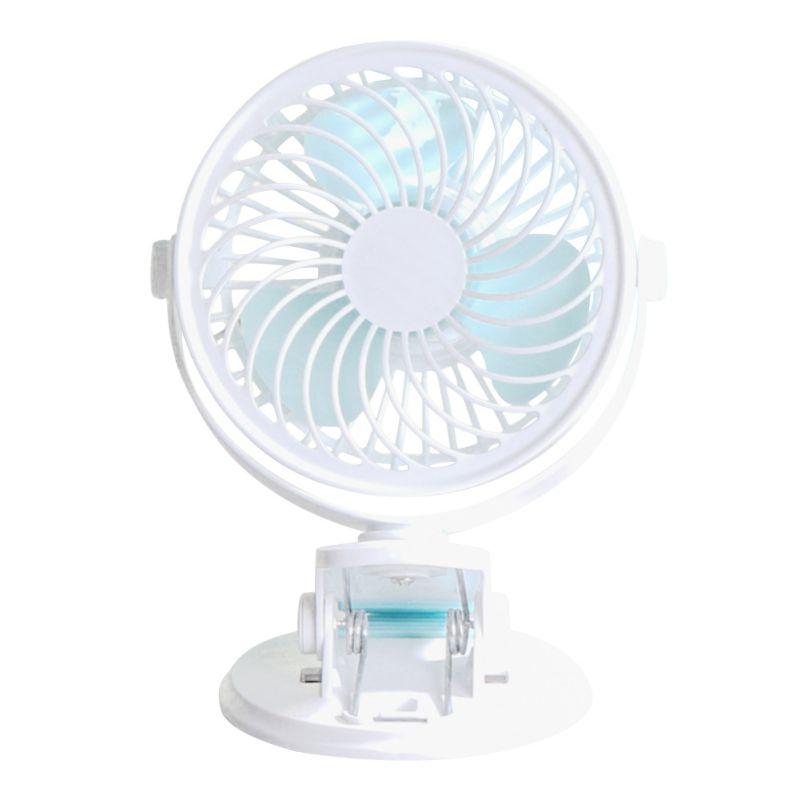 USB Rechargeable Mini Air Cooling Fan Handheld Fan Usb Small 5 Inch Office Desktop Fan Clip Fan Portable
