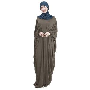 Image 3 - Hồi Giáo Tay Cánh Dơi Áo Dây Nữ Khimar Abaya Hồi Giáo Đầm Maxi Dài Jilbab Ramadan Đồng Màu Ả Rập Áo Choàng Cầu Nguyện Quần Áo Garm