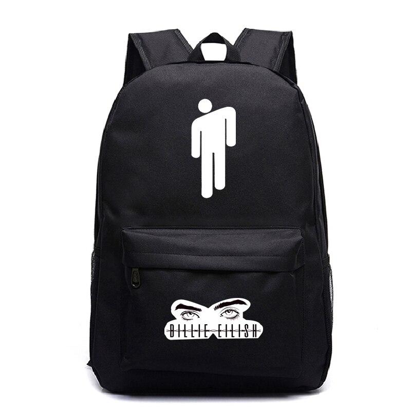Billie eilish mochilas femininas/masculino sacos de escola portátil sacos de viagem adolescente notebook mochila moda náilon mochila mochila