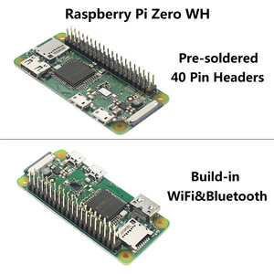 Image 5 - Yeni varış ahududu Pi sıfır WH 1GHz 512Mb RAM dahili WiFi ve Bluetooth ile 40Pin önceden lehimli GPIO başlıkları Pi sıfır W