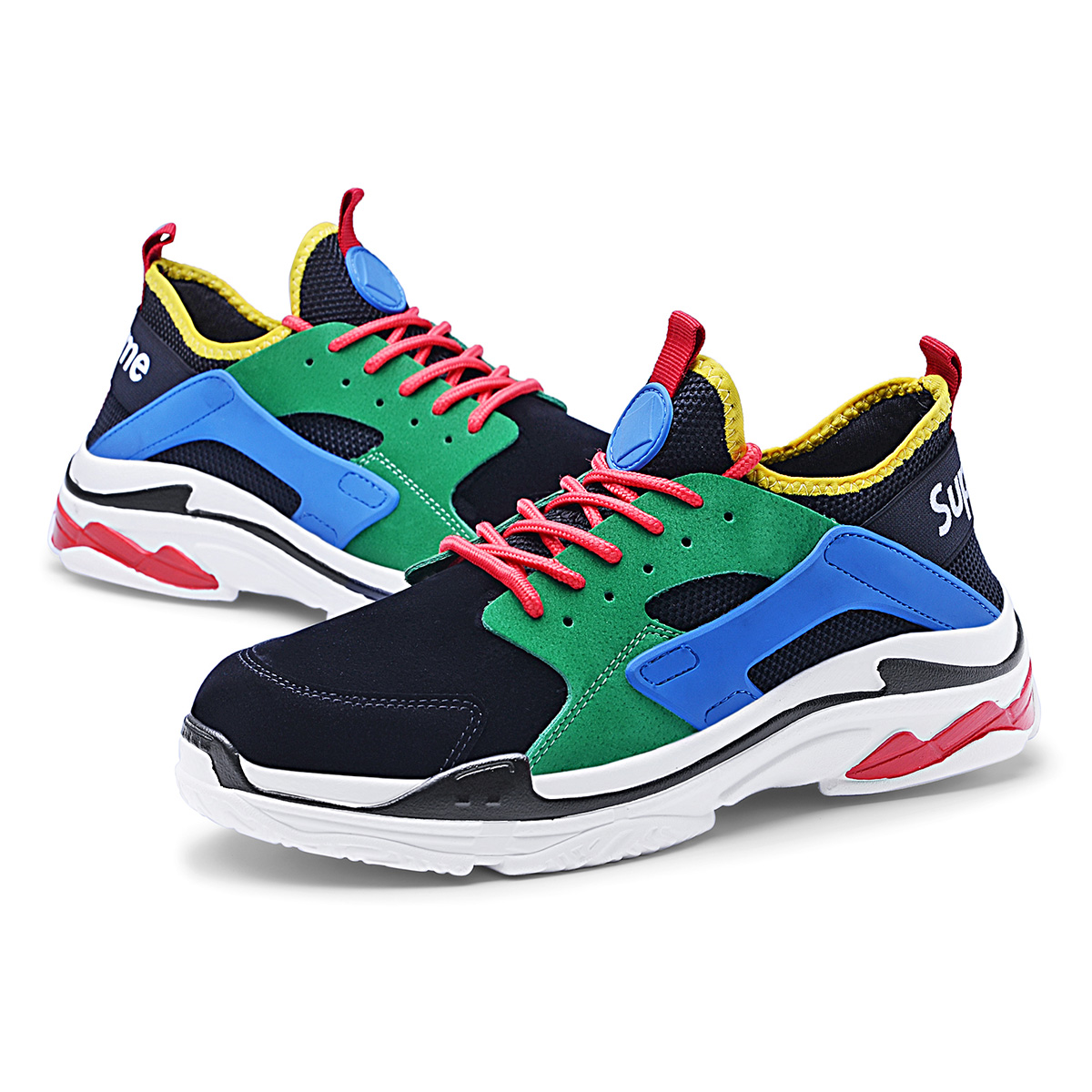 Best Offer #a7dc9 Men Running Shoes Lace up Sports Shoes