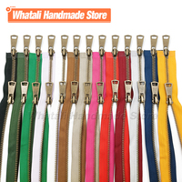 5# Colorful High Quality Open-End 2-Ways Zip Double Sliders Copper Metal Zipper Diy Handcraft For Sewing Cloth Pocket Garment