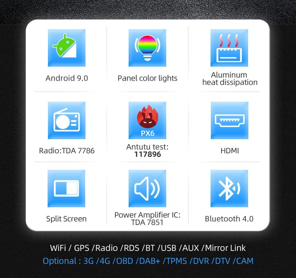 Flash Deal 2din Android 9.0 Car Multimedia Player For HONDA CRV 2012 2013 2014-2016 GPS Navigation Wifi Bluetooth Camera 4G RAM 64G ROM 4
